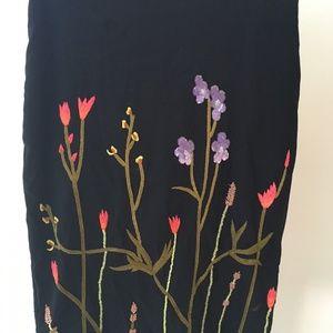 Vintage Nicole Miller Skirt with Beaded Flowers